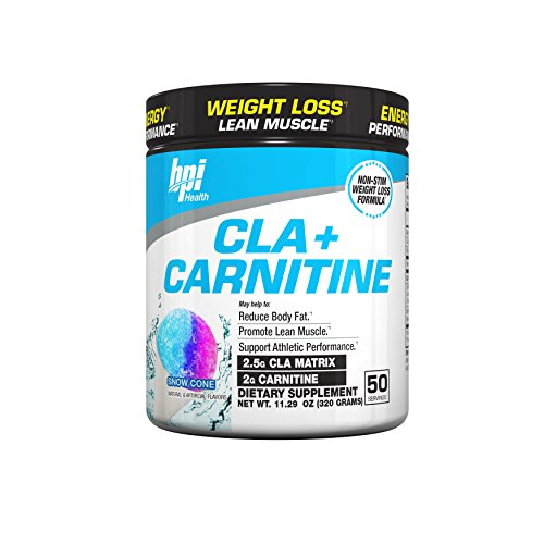 BPI Sports -BPI Health CLA + Carnitine, Snow Cone, 50 Servings, 11.29 Ounce, 300 Grams,