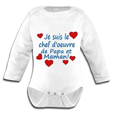 Les lutins de Camille-Body bébé pour garçon 47fb2bed336