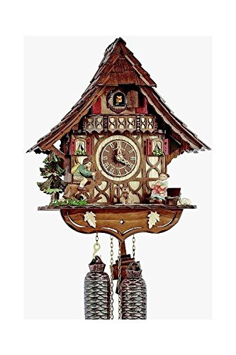 8-Day Curved Roof Chalet Cuckoo Clock (Roof Chalet)
