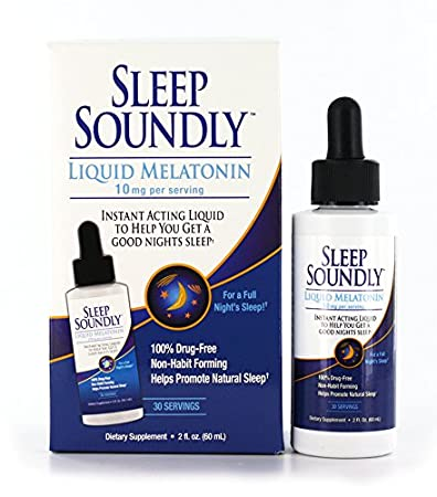 Amazon.com: Sleep Soundly Liquid Melatonin 10mg, Instant Acting Sleep Formula, 30 servings: Health & Personal Care