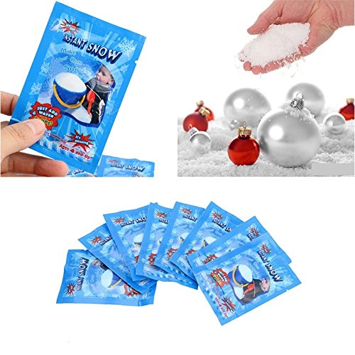 Eshylala 30 Pack SAP Magic Snow Instant Fluffy Snow Powder Reusable DIY Artificial Slime Simulation Snow Home Ornament Party Decoration for Christmas Wedding Festival by Eshylala (Image #1)