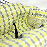 Pam Grace Creations ZigZag Elephant Grocery Cart Cover, Blue