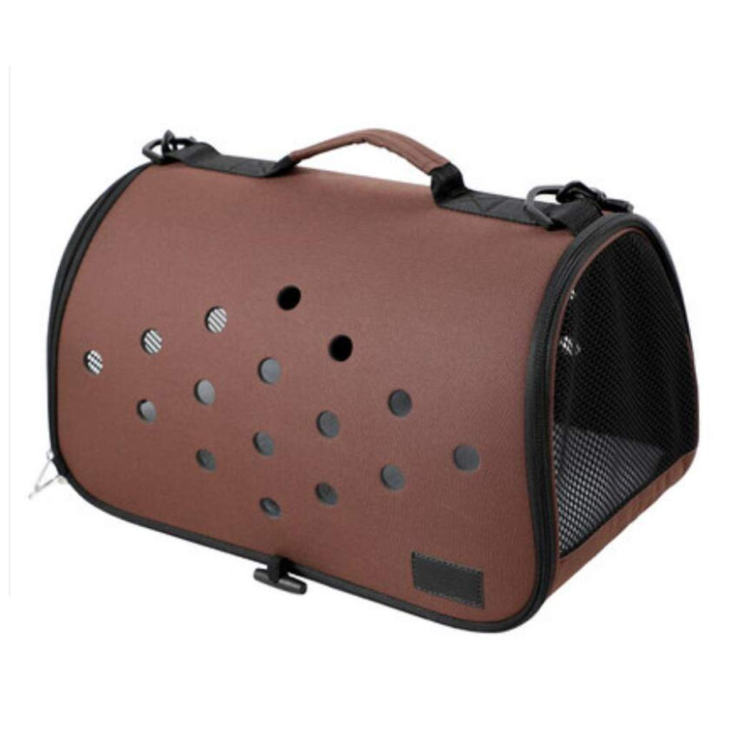 Brown ZALIANG Pet travel bag The Dog's Bed Light bluee Out Of The Portable Cat Backpack Dog Cage Can Be Used In The Car 4KG Pets (color   bluee)