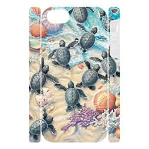 Canting_Good Sea Turtle Custom Case Shell Skins for iPhone 5 TPU (Laser Technology)