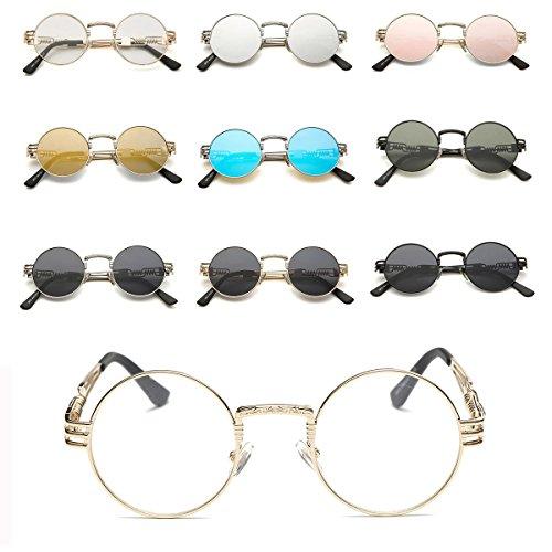 cbc94d2ae1 GAMT John Lennon Glasses Quavo Steampunk Round Sunglasses Circle ...