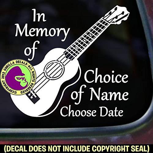 UKULELE Uke Player - MEMORIAL - Vinyl Decal Sticker A