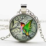 ChokerNew Hummingbird Jewelry Blue Hummingbird Necklace Charm Pendant NecklaceJewelry Chain Women Long Gold Sterling Silver Customized Fashion Jewelry