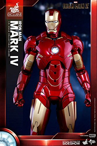 Hot Toys Movie Masterpiece IRON MAN 2/3 MARK IV (Mark 4) Shanghai Disney Opening EXCLUSIVE 1/6th Scale Collectible Figure RARE & HARD TO FIND !