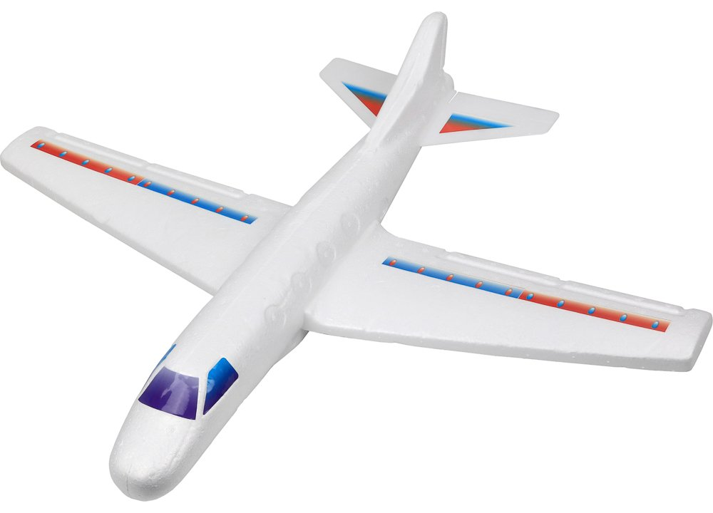 "Click N' Play Giant Styrofoam Aircraft Glider, 22"" inch Wingspan, DIY, Throw It and Let It Glide."
