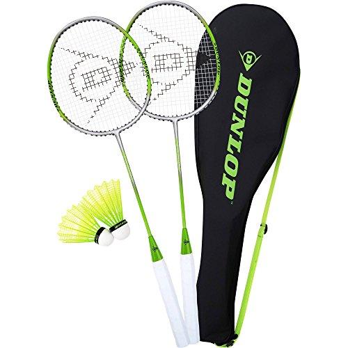 Dunlop 2-Player Premium Badminton Racquet Set - One Piece Aluminum Frame