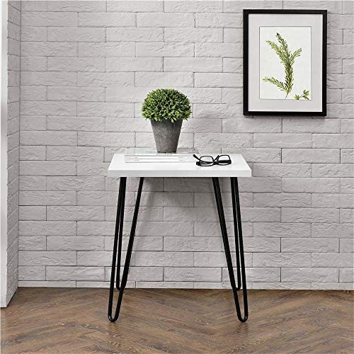 Ameriwood Home Owen Retro Accent Table, White