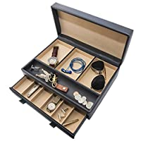 Organice el vestidor con valet de su casa para los hombres de lujo para relojes, joyas y accesorios - Soporte para joyas grandes y vitrina