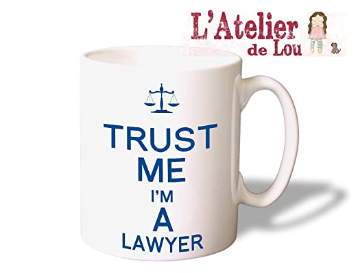 Confía en mí soy un abogado taza de cerámica - gran idea de regalo ...