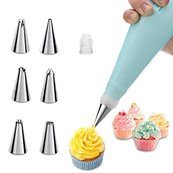 MuYwa Stainless Reusable Silicone Piping Bag