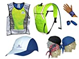 Action Sports Ultimate Summer Cooling Kit - 7 PIECES - HI-VIZ LIMEX-SMALL