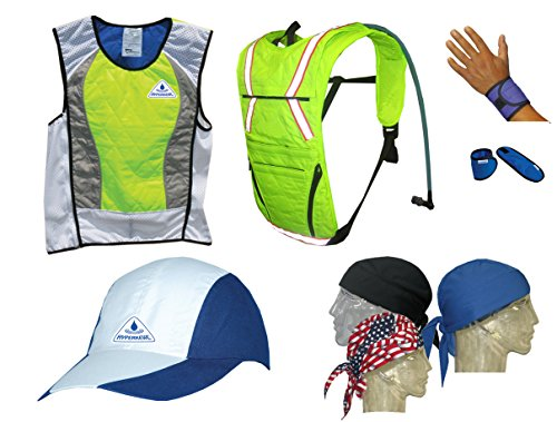Action Sports Ultimate Summer Cooling Kit - 7 PIECES - HI-VIZ LIMEX-SMALL by HyperKewl