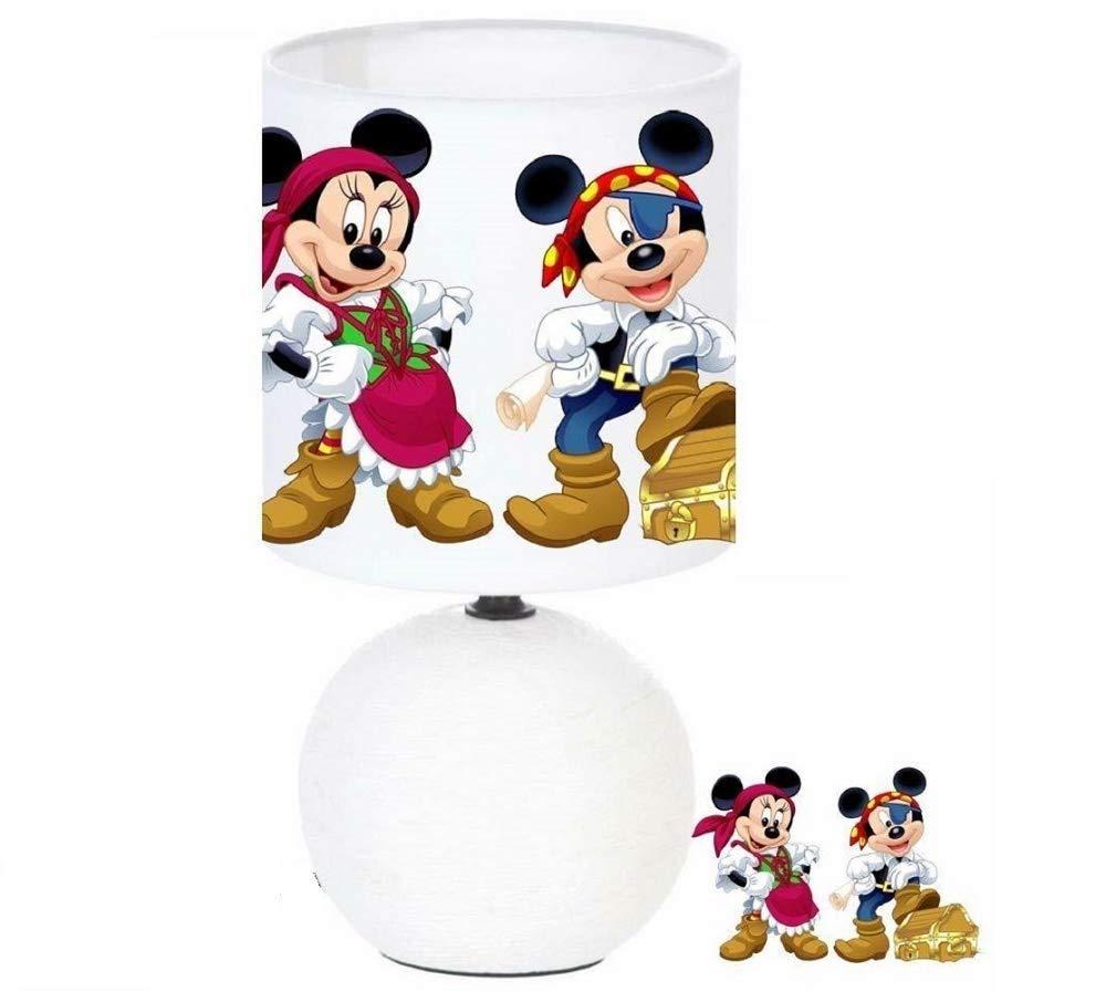 cr/éation artisanale collier Lampe de chevet MICKEY ET MINNIE MOUSE PIRATE