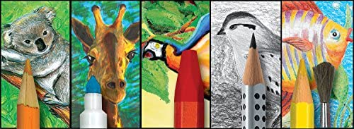 64-teiliges Kunst-Set f/ür Kinder Faber-Castell Young Artist Essentials Geschenkset