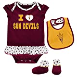 Outerstuff NCAA Arizona State Sun Devils Newborn & Infant Team Love Bib & Booties Set, Maroon, 6-9 Months