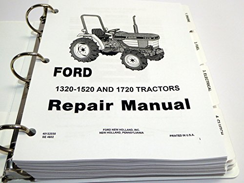 Ford 1320 1520 1620 1715 1720 Tractor Service Manual. Ford 1320 1520 1620 1715 1720 Tractor Service Manual Amazon Books. Ford. New Holland Ford Tractor Wiring Diagram 1986 At Scoala.co