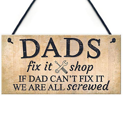 (Meijiafei Dads Man Cave Signs Garage Shed Door Wall Hanging Plaque Gifts for Dad Daddy 10