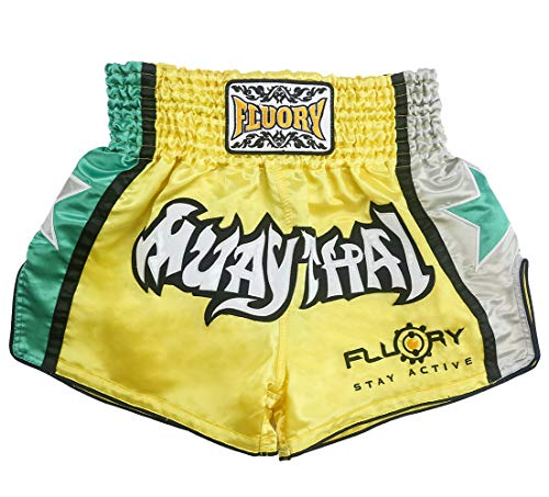 FLUORY Muay Thai Shorts Size:XS S M L XL 2XL 3XL 4XL, Boxing Shorts for Men/Women/Kids with Many Colors