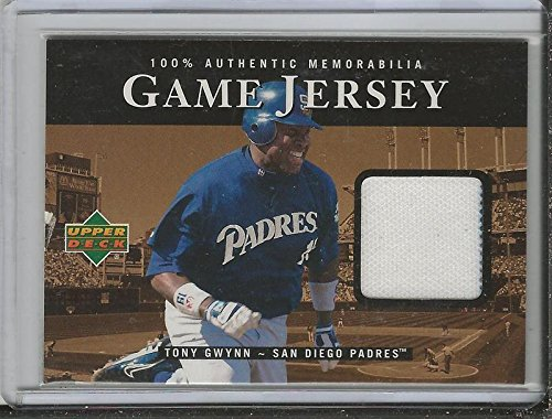 Tony Gwynn 2000 Upper Deck Game Used Jersey CTG Padres - Baseball Game Used Cards