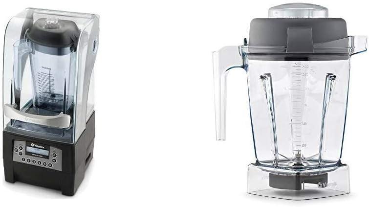 Vitamix 36019 36019-1 Vita-Mix Quiet One Blender 48 oz, Black + Container, 48 oz.