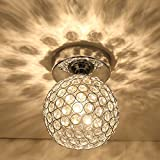 Motent Industrial Scandinavian Modern 5.9 inches Dia Porous Crystal Ball E27 Hanging Lamp Shade Ceiling Light Fixtures Set for Hotel Bedroom Club Loft - with 5w Warm White Light Source