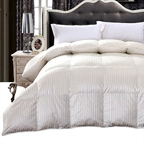 Royal Hotel Collection, King/Cal king, Silk 900-Thread Count White Goose Down Comforter 60oz, 75 ...