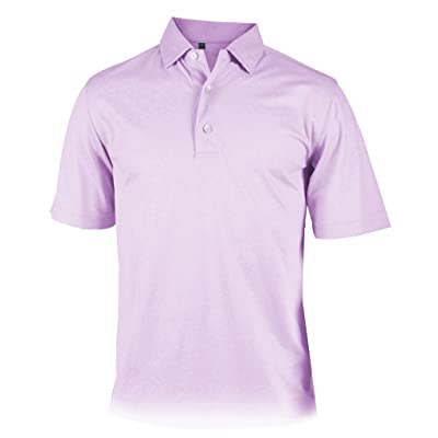Monterey Club Mens Dry Swing Geo Tile Emboss Solid Polo #1210