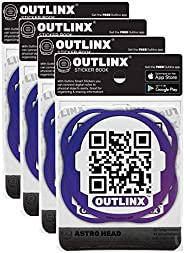 Outlinx Smart Stickers - Astro Head (4-Packs)