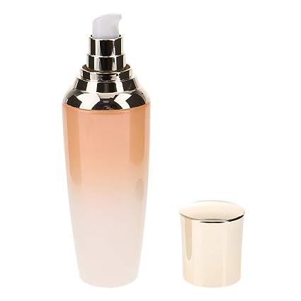 Homyl Dispensador de Botella de Bomba Envase de Maquillaje Estuche de Vidrio Tubo de 55ml /