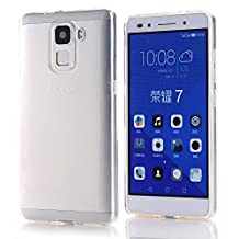 Huawei Honor 7 Case, Arbalest® [Slim Fit] Premium Transparent TPU Slim Soft Skin Protective Cover Gel Case for Huawei Honor 7 5.2 Inch - Clear