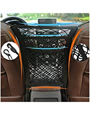 Universal Elastic Mesh Net Trunk Bag 3 Layer Car Mesh Organizer Car Storage Bag Cargo Tissue Purse Holder Between Seats, Driver Storage Netting Pouch, Barrier of Backseat Pet Kids