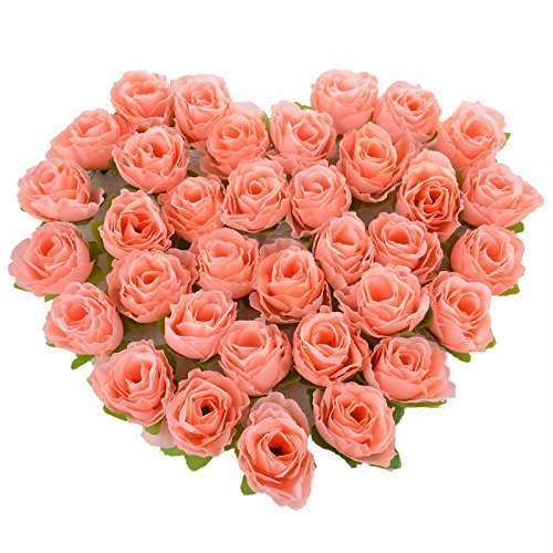 Red Rose Petals Silk Flowers - 50PCs Mini Rose Flower Head Artificial Flowers Wedding Party Christmas Olympics Home Decoration Multicolor Craft Ornaments 3.6cm - Red Roses Artificial - The Maryland National In Harbor