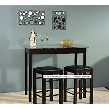 Attractive Dining Room Sets For Small Spaces, 3 Pieces Dining Room Sets For Small Space  Counter