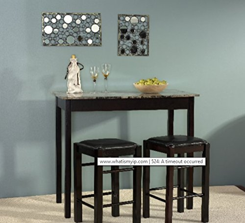 Dining Room Sets For Small Spaces, 3 Pieces Dining Room Sets For Small Space Counter Height Dining Set