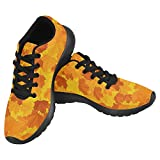 InterestPrint Women's Jogging Running Sneaker Lightweight Go Easy Walking Casual Comfort Sports Running Shoes Size 8 Autumn Leaves