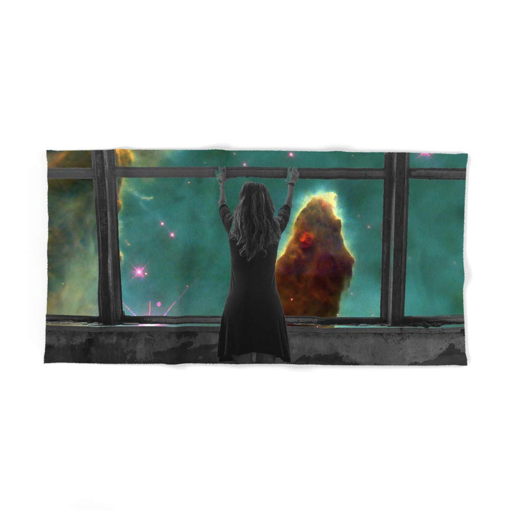 Society6 Bath Towel, 64'' x 32'', Window to Another World by alphavariable
