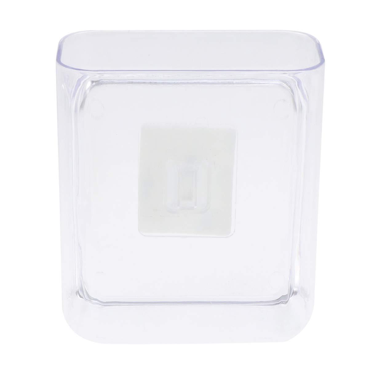 OUNONA - Estantería de Almacenamiento Adhesiva para baño, Organizador de Esquina, Soporte de Pared para Ducha, Soporte de Pared para Cocina (Transparente)