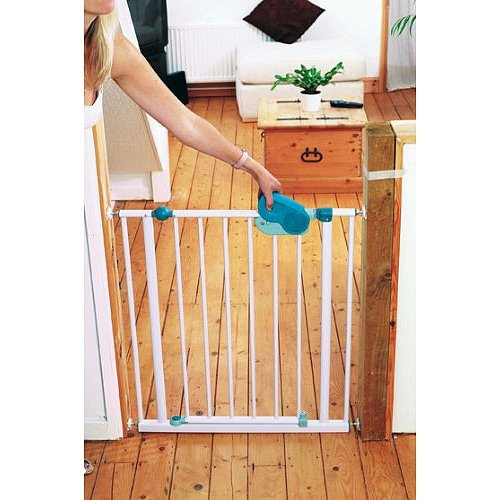 Safety 1st 35023741 QuickClose - Barrera de seguridad, con sujeción por presión (73-81 cm): Amazon.es: Bebé