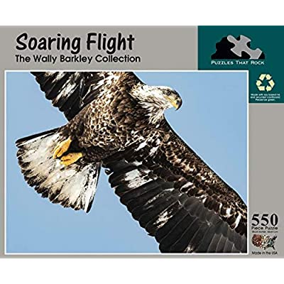 Soaring Flight, 550 Piece Eagle Puzzle, Made in USA: Toys & Games [5Bkhe0501025]