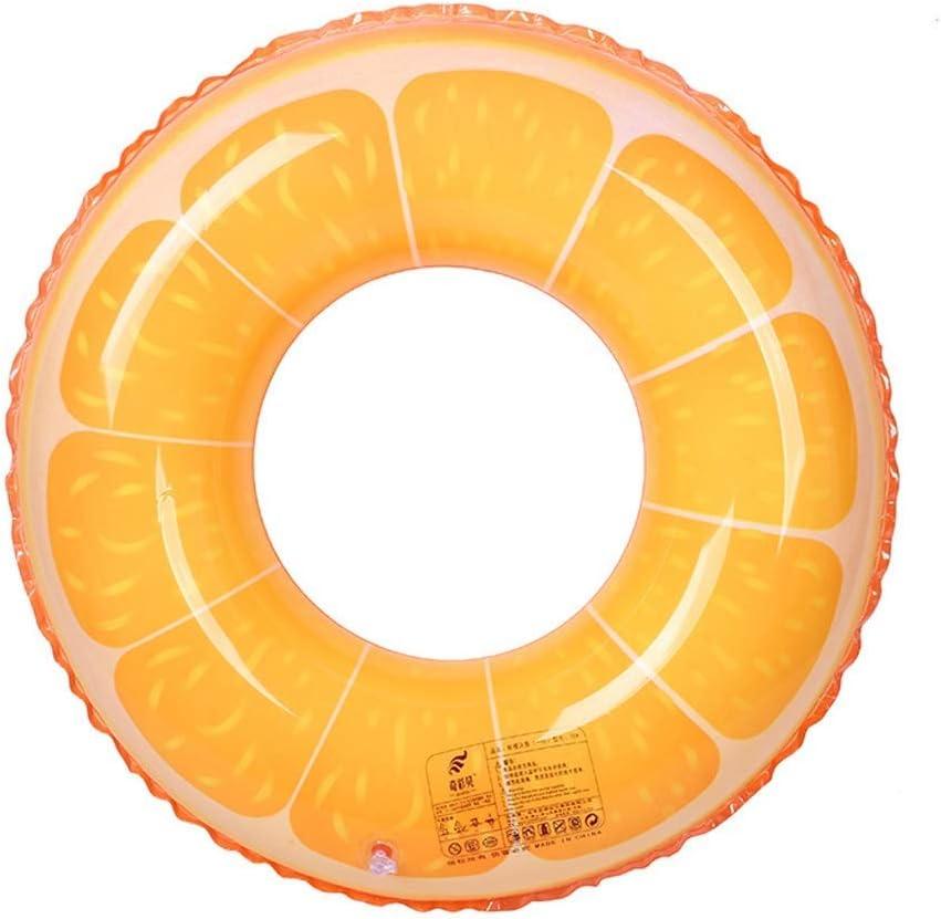Q.AWOUスイムリングPVC厚く水膨脹可能なおもちゃに浮かぶ創造的なファッション大人の子供(色:オレンジ、サイズ:S)