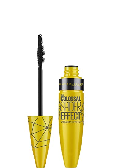 7c0dc7ba402 Maybelline New York Volum' Express The Colossal Spider Effect Washable  Mascara, Glam Black,
