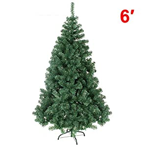 Strong Camel Green Artificial Christmas Tree 6 ft Spruce Metal Stand Folding Realistic PINE-750 Tips 90