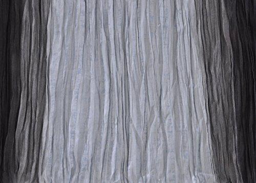 Palme - [27443] - Etole Femme Plissée - Dégradé Noir Et Gris - 110X180 Cm