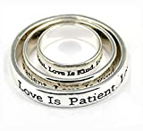 4030295 3 Piece Scarf Ring Set Christian Scripture Religious Jewelry 1 Corint...