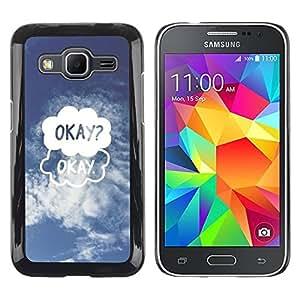 TopCaseStore / la caja del caucho duro de la cubierta de protección de la piel - Cloud Drawing Funny Sky Blue - Samsung Galaxy Core Prime SM-G360