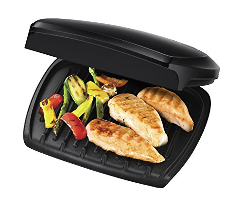-[ George Foreman Family 5-Portion(510 sq cm plate) Grill 23420 - Black  ]-